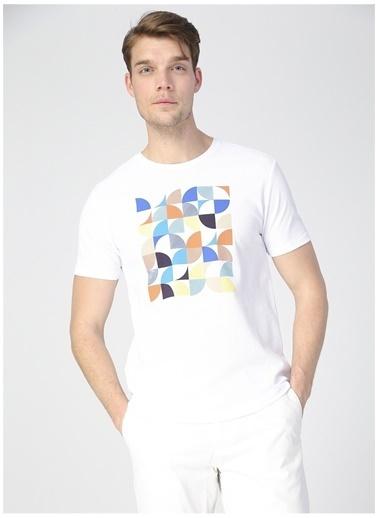 Pierre Cardin Pierre Cardin Erkek Beyaz Bisiklet YakaT-Shirt Beyaz
